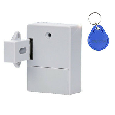 BRASS CUPBOARD LOCK Latch KEY+CARD for Cabinet/Drawer/Wardrobe Dresser Door