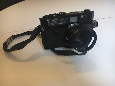 Canon-7 Vintage Japanese Rangefinder Black 35mm manual repaint Leica analogue
