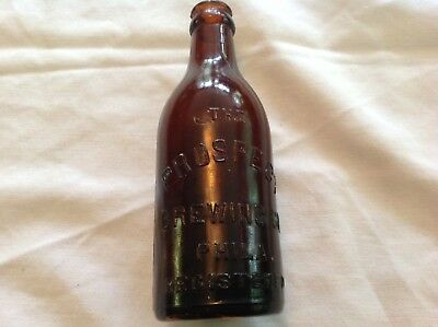 Prospect Brewing Co. , Phila. Amber Glass Beer Bottle, Circa 1900