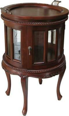Solid Mahogany Round Tea Table / Side Table Antique Reproduction NEW T037