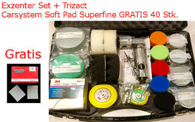 Exzenter Set 75 - 50 mm + 3M Trizact 3000 und Car System Softpad 40 Stk GRATIS