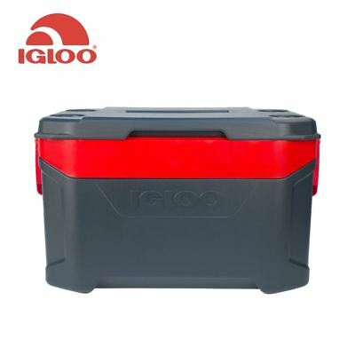 Igloo Latitude 50QT Cooler - New for 2018 Camping Picnic Coolbox Red or Blue