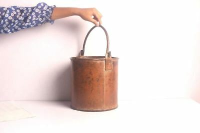 Old Vintage Primitive Rusty Cast Iron Bucket With Handle Collectible-Ebay4223