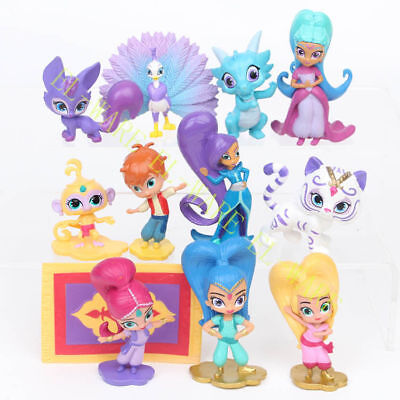 12 PCS Shimmer And Shine Shimmer Shine Leah Zac Kaz Tala Nahal Action Figure Toy