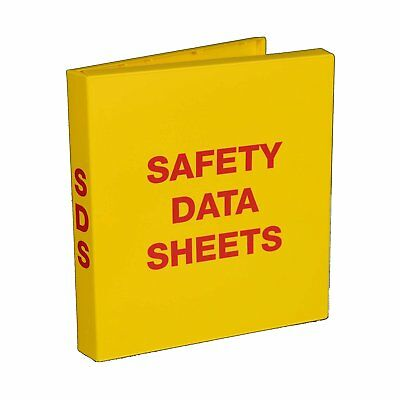 "SDS Safety Data Sheet Binder, 1.5"" Capacity, Polypropylene Rings, Fully Enclosed"
