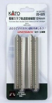 New Kato 20-025 124mm Double Slab Track Straight. Best Price
