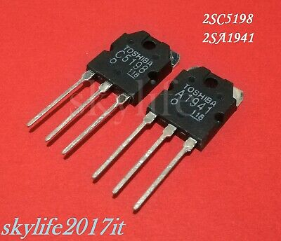 KIT Transistor 2SC5198 - 2SA1941 Power 140V 10A 100W - Pair C5198 - A1941