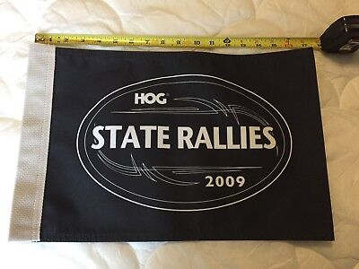 Harley-Davidson Motorcycle HOG State Rallies 2009 Flag in Black - New Condition