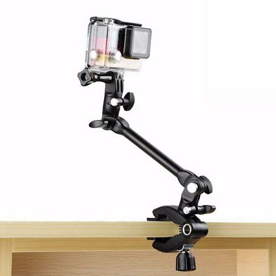 Guitar Drum Clips 360 Rotate Music Mount Arm Stand Clamp for Gopro Xiaomi SJCAM
