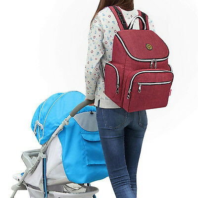 Diaper Mummy Bag Multi-Function Waterproof Travel Backpack Nappy Bags Change Pad
