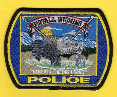 """Buffalo Police Dept Patch ~ Wyoming ~ """"beneath The Big Horns"""" ~ Beautiful Patch"""
