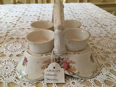 Crown Devon Egg Cup Set 1913 -1917. Good condition.