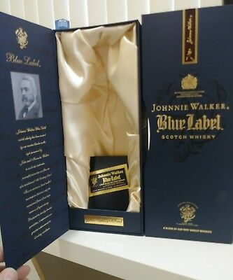Johnnie Walker Blue gift box without the bottle