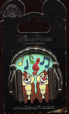 Chip and Dale in Headphones Disney Pin 111425