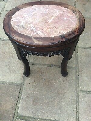 Antique Victorian Sidetable with marble inset top