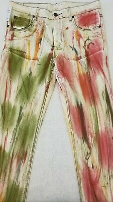 NWT Cheap Monday Jeans Tight Berlin Skinny Jeans Multi Color 33x34