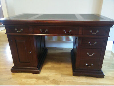 Leather Top Mahogany Writing Table