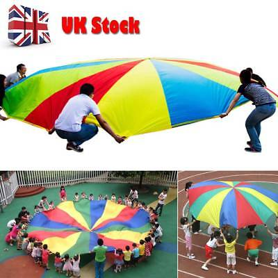 8M/2M Kid Play Rainbow Parachute Outdoor Game Exercise Sport Group Activity UKEY