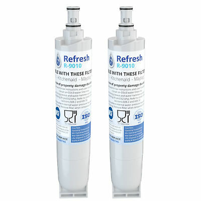 Refresh Replacement Water Filter Fits Whirlpool 4396508T Refrigerators (2 Pack)