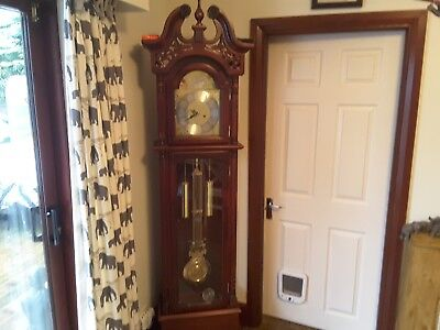 Mahogany Grandfather clock  in good condition