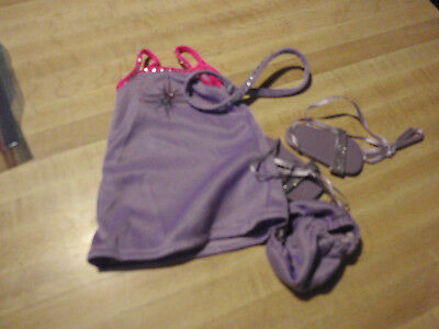Out fit for Magic Attic Club doll  purple dress/panties, sandals and headband