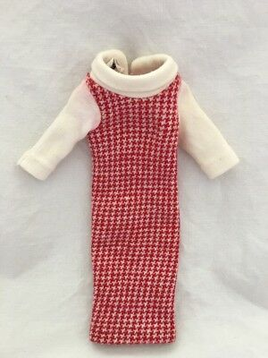 Vintage Tagged Tressy Doll Red Houndstooth Dress NEAT KNIT