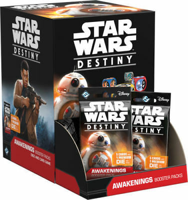 Star Wars Destiny Awakenings Booster Pack Factory Sealed Box
