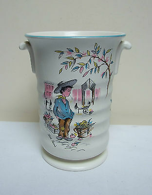 "Crown Ducal Ware Petit Pierre 274 Vase 6"" Vintage Retro"