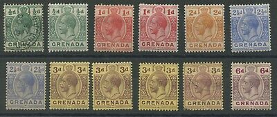 Grenada SG89-97 1913-22 1/2d to 6d including all 3d shades Mounted Mint P14