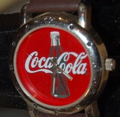 2002 Coca Cola Watch-With Band That Says Coca-Cola-New Battery