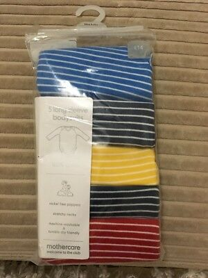 Mothercare Tiny Baby 5 Long Sleeve Bodysuits