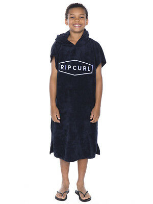 Rip Curl Boys Down South Hooded Towel in Black
