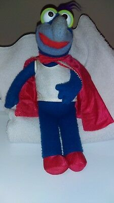 Fisher Price blue felt Gonzo plush in acceptable - good condition