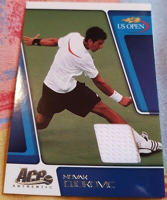 Novak DJOKOVIC Ace Authentic US Open Match-Used Materials Jersey card US3 #57/69