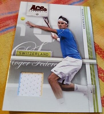 Roger FEDERER Ace Authentic Match-used Material Jersey card Tennis