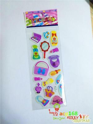 Bags Cartoon Stickers Dress Up Xmas Lot Craft Stick 1pc Puffy Kid Party Toy Gift