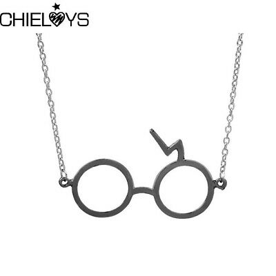 Harry Potter Glasses Necklaces Silver Gypsies Scarring Lightning Necklace silver