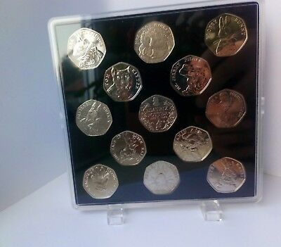 ACRYLIC COIN DISPLAY CASE FOR BEATRIX POTTER FULL 50p SET 2016-2018 (no coins)