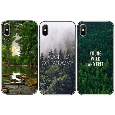 For Iphone 6 6S 7 8 Plus X Tree Pattern Slim Soft Rubber TPU Phone Case Cover