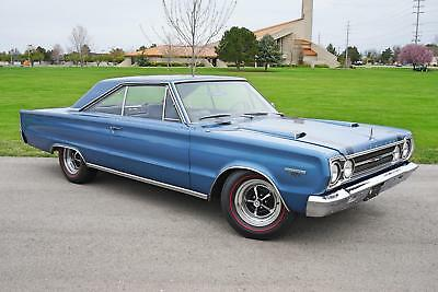 GTX Coupe 1967 Plymouth GTX Coupe 76,500 Miles Blue   Automatic
