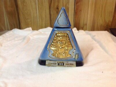 "Vintage 1970 Jim Beam INDIANA IMPERIAL SESSION  Pyramid Whiskey Decanter 9"" Tall"
