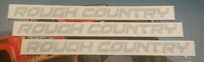 """RC ROUGH COUNTRY 3 decals stickers die cut gray .75X8"""" free shipping offroad"""