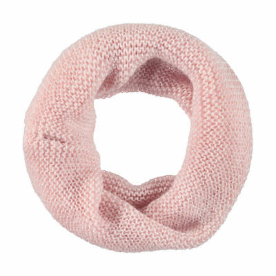 SNOOD Children's Knitted Pink with Metallic Thread SCARF PINK Beautiful Cosy