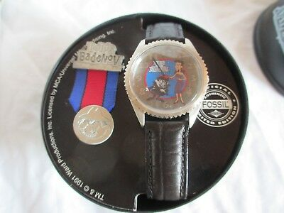 Natasha and Boris Fossil Watch from Rocky and Bullwinkle