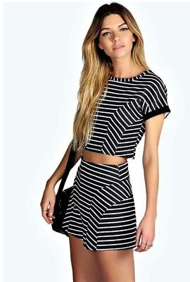 Boohoo Top and Short Set Size 6 8
