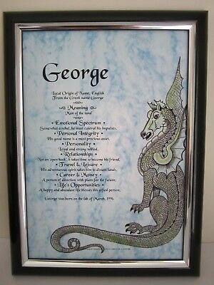 Fantasy Dragon First Name Meaning Scroll* Can Do Any First Name *suits All Ages