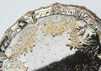 Fine KING GEORGE III OLD SHEFFIELD PLATE Small Early WAITER TRAY c1765