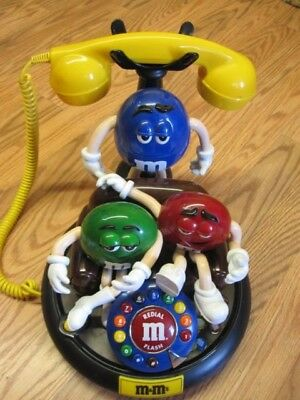 M & M's Characters Animated Talking Light Up Telephone Phone TESTED AND WORKS