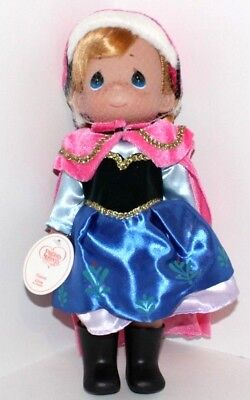"""Disney Frozen Anna Precious Moments 12"""" Doll With Stand & Alternate Outfit #5006"""