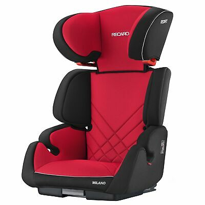 Recaro Milano Seatfix Group 2/3 Isofix Child Car Seat 4-12 Years - Racing Red